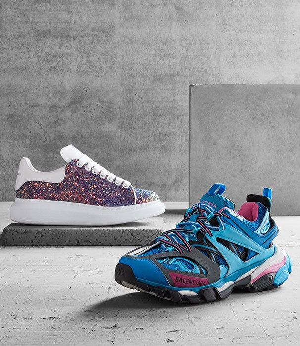 Holt Renfrew image of Step up in the season's bold new sneakers for women. SHOP NOW