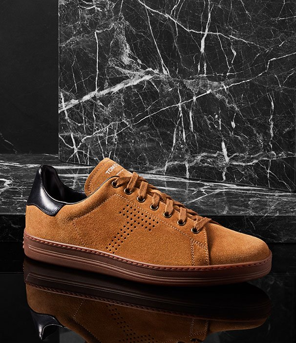Holt Renfrew image of Kick back in new Tom Ford shoes for men. SHOP TOM FORD