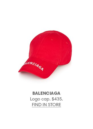 Holt Renfrew image of BALENCIAGA Logo cap. $435. FIND IN-STORE