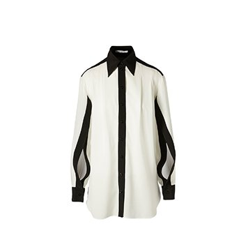 Holt Renfrew image of GIVENCHY Two-Tone Silk Shirt With Open Sleeves. $1635.