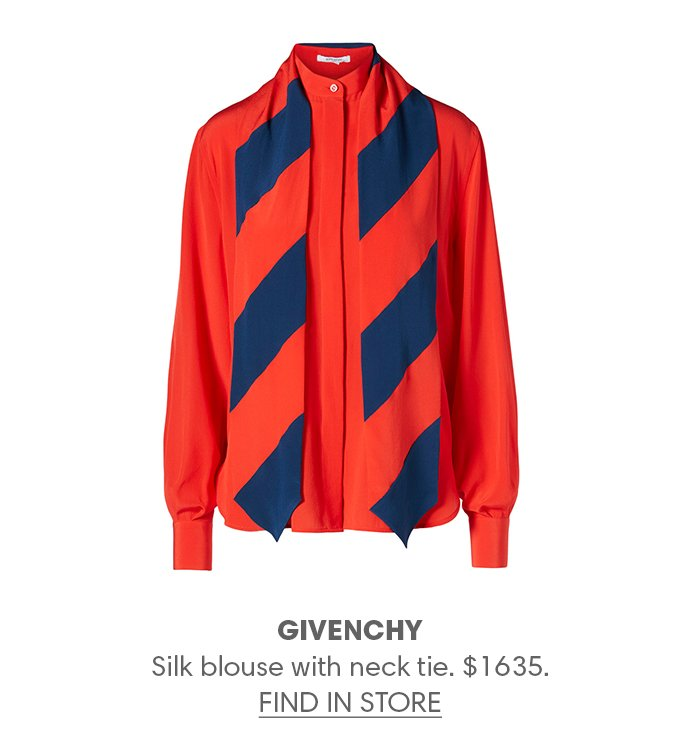 Holt Renfrew image of GIVENCHY Silk blouse with neck tie. $1635. FIND IN-STORE