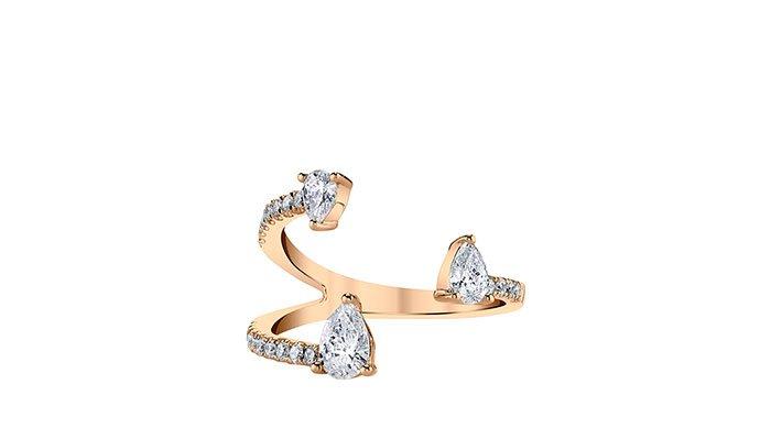 Holt Renfrew image of ANITA KO Saturn 18K rose gold ring with diamonds. $5985. SHOP NOW