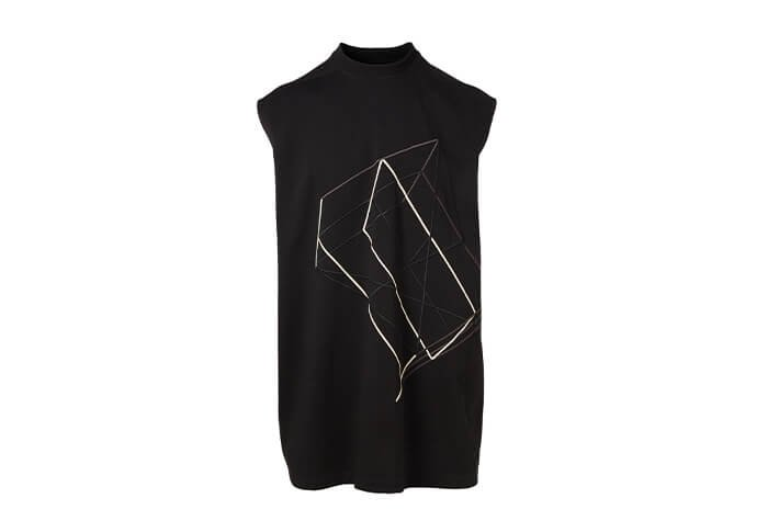 Holt Renfrew image of RICK OWENS Tarp Embroidered Muscle Tank. $696. FIND IN-STORE