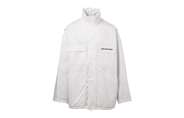 Holt Renfrew image of BALENCIAGA Windbreaker Jacket With Logo Pocket. $2690. FIND IN-STORE