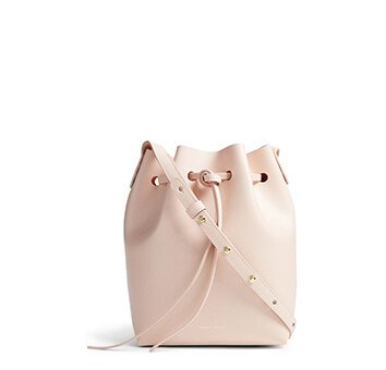 Holt Renfrew image of MANSUR GAVRIEL Mini Saffiano Leather Bucket Bag. $685. SHOP NOW