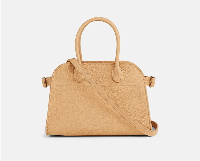 Holt Renfrew image of THE ROW. Margaux 10 Leather Top Handle Bag. SHOP NOW