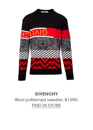 Holt Renfrew image of GIVENCHY Wool patterned sweater. $1690. FIND IN-STORE