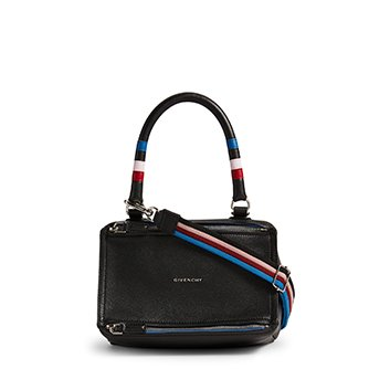 Holt Renfrew image of GIVENCHY Small Pandora Leather Bag With Stripes. $2785.