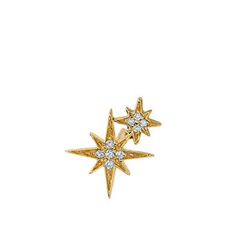 Holt Renfrew image of GIVENCHY 14K White Gold Double Starburst Stud Earring. $475.