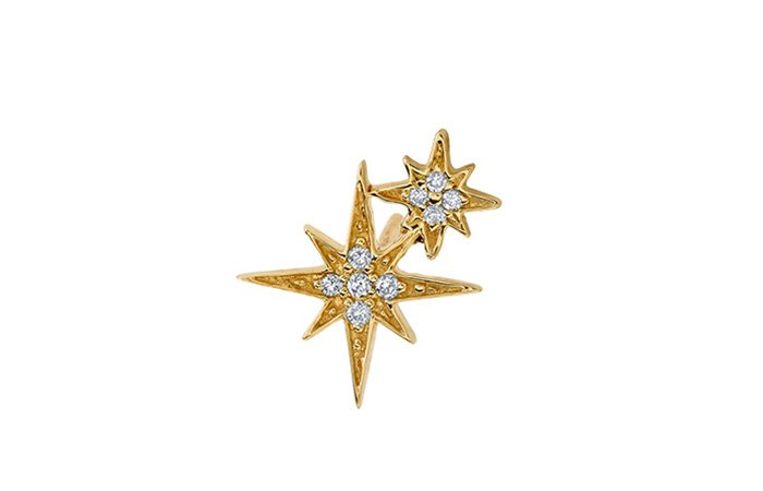 Holt Renfrew image of SYDNEY EVAN 14K White Gold Double Starburst Stud Earring. $475.