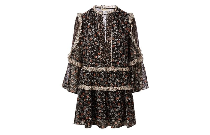 Holt Renfrew image of ULLA JOHNSON Robe Essie en soie fleurie. 695 $.