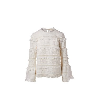 Holt Renfrew image of ULLA JOHNSON. Grace Lace Bell Sleeve Blouse. $495.