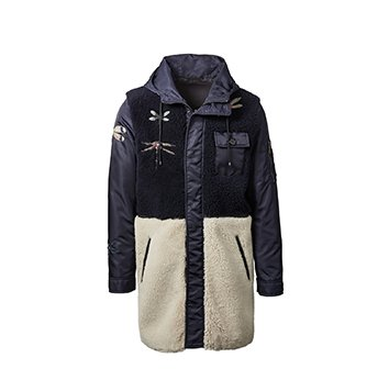 Holt Renfrew image of VALENTINO Dragonfly Shearling Coat. $7390. FIND IN-STORE