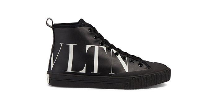 Holt Renfrew image of VALENTINO VLTN leather high-top sneaker. $895. SHOP NOW