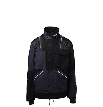Holt Renfrew image of SACAI Mixed Media Jacket. $1665. FIND IN-STORE