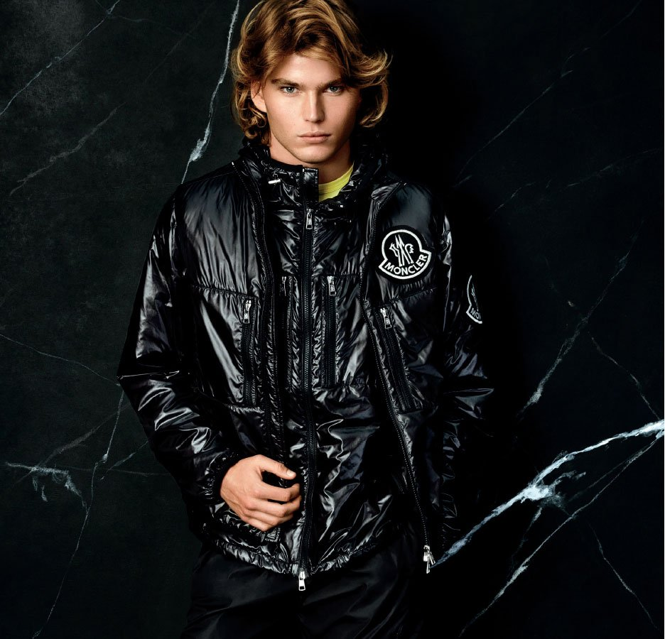 Holt Renfrew image of Moncler sizzles with their new collection for men. SHOP MONCLER