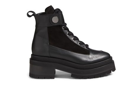 Holt Renfrew Image of PIERRE HARDY Penny Leather Platform Combat Boots. $1245.
