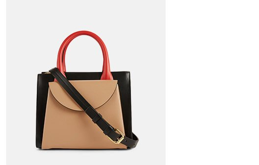 Holt Renfrew image of MARNI. Small Law Colourblock Leather Bag. SHOP NOW