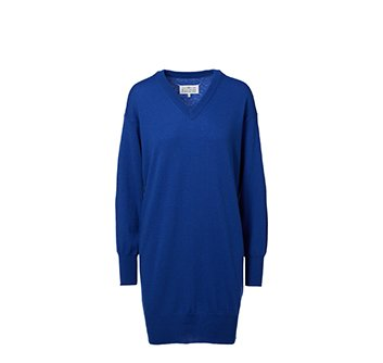 Holt Renfrew image of MAISON MARGIELA Wool Sweater Dress With Elbow Patches. $750.