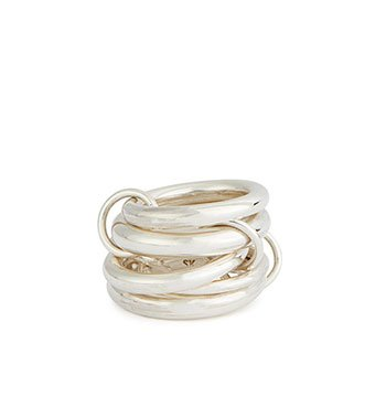 Holt Renfrew image of SPINELLI KILCOLLIN Aquarius Sterling Silver Stacked Ring. $1200.