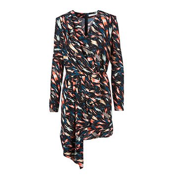 Holt Renfrew image of GIVENCHY Crepe De Chine Draped Dress In Flower Print. $3520.