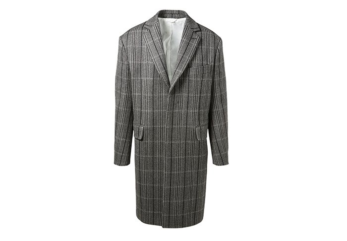 Holt Renfrew image of CALVIN KLEIN 205W39NYC Wool Oversized Coat In Check. $3550. FIND IN-STORE