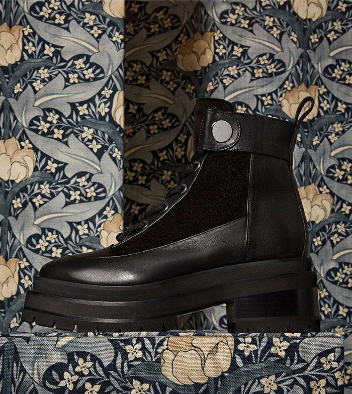 Holt Renfrew image of PIERRE HARDY Penny Leather Platform Combat Boots. $1245. SHOP NOW
