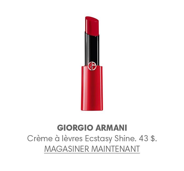 Holt Renfrew Image of GIORGIO ARMANI Crème à lèvres Ecstasy Shine. 43 $.