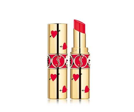 Holt Renfrew image of YVES SAINT LAURENT Rouge Volupté Shine Lipstick - Heart & Arrow Limited Edition. $44. SHOP NOW