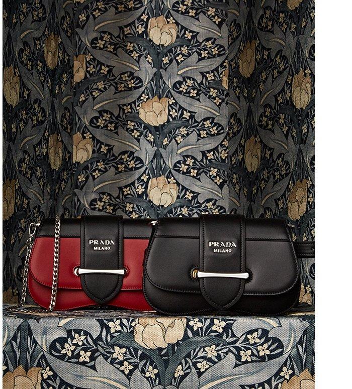 Holt Renfrew image of PRADA Sidonie Leather Belt Bag. $2150 each. SHOP PRADA