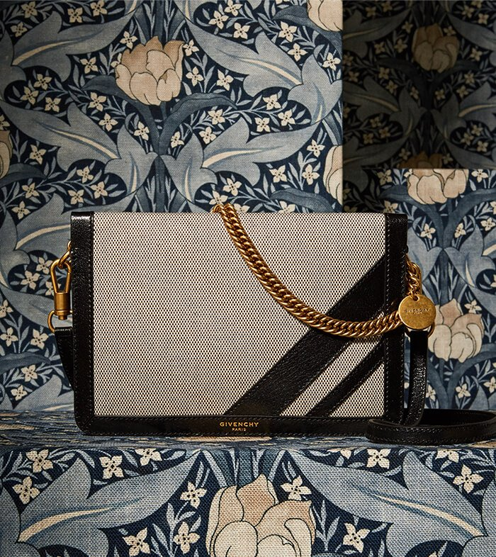 Holt Renfrew image of GIVENCHY Cross 3 Canvas Crossbody Bag With Stripes. $1795. SHOP NOW