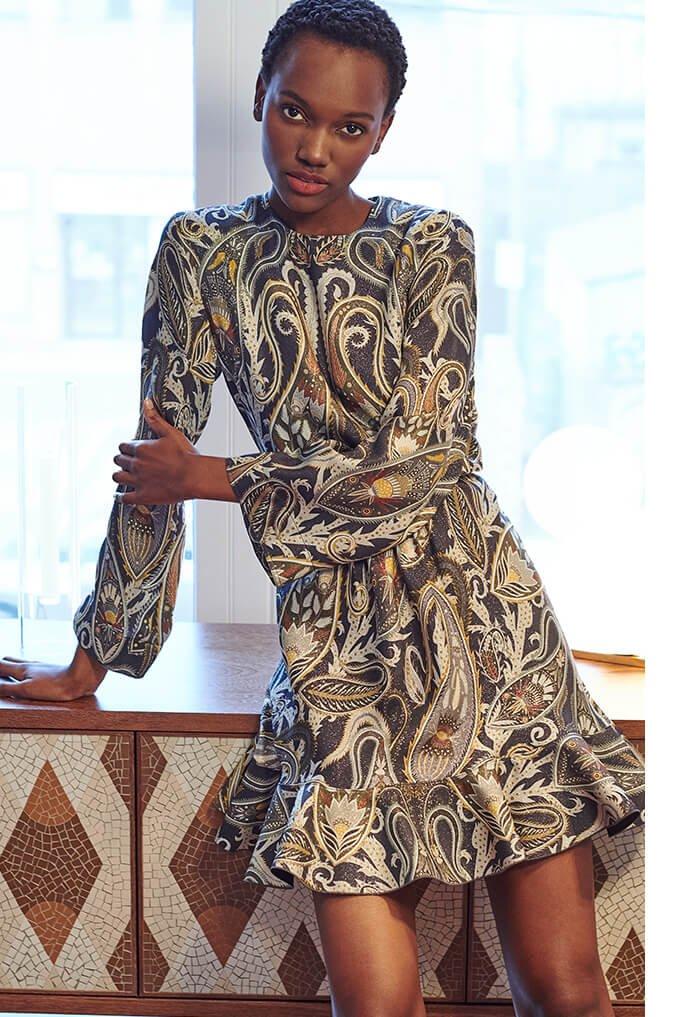 Holt Renfrew image of CHLOÉ Silk Dress In Paisley Print. $4650.