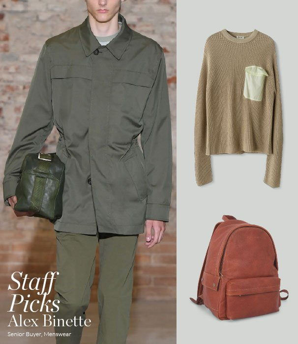 Holt Renfrew image of Fall in line with Alex's top recruits from Spring's military-inspired menswear. READ AND SHOP