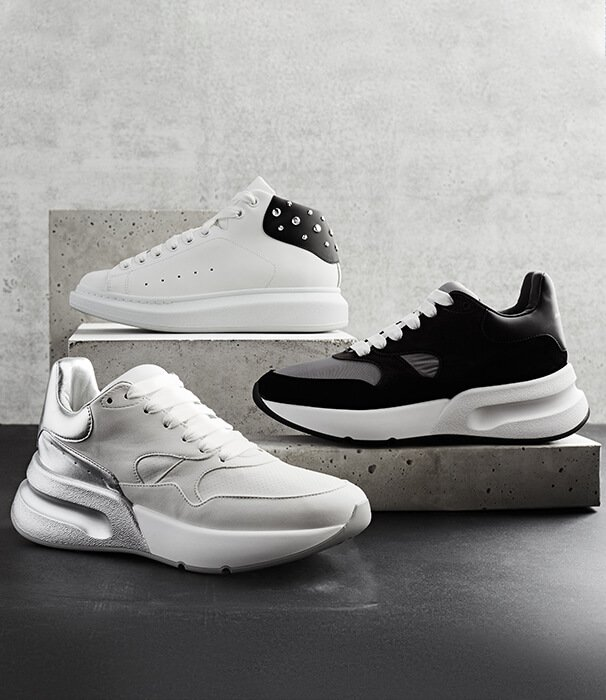 Holt Renfrew image of All Rise. Alexander McQueen's new kicks to rule them all. SHOP ALEXANDER MCQUEEN
