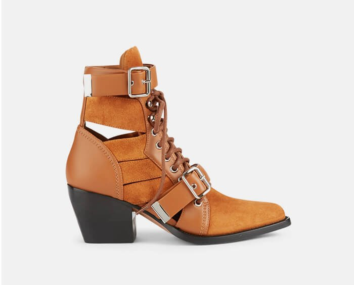 Holt Renfrew image of CHLOÉ. Rylee Suede Ankle Boots. SHOP NOW