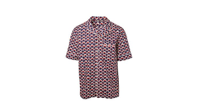 Holt Renfrew image of VALENTINO Short Sleeve Shirt In Valentino Scale Print. $1060.