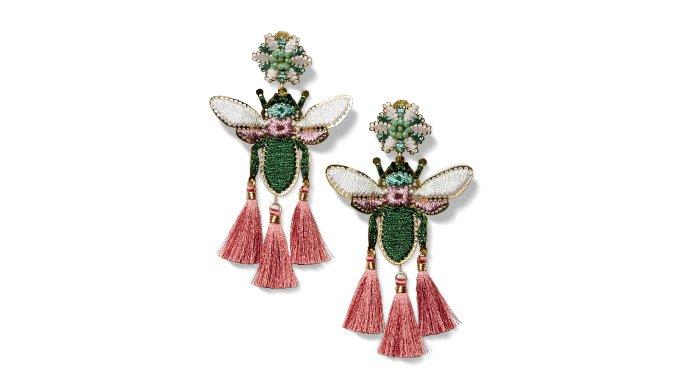 Holt Renfrew image of MERCEDES SALAZAR. Tropics tassel earrings made by Colombian artisans. $228 – on sale. SHOP MERCEDES SALAZAR