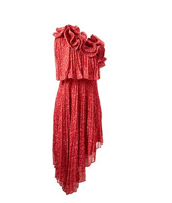 Holt Renfrew image of AMUR Carole One-Shoulder Dress In Floral Print. $878. SHOP NOW
