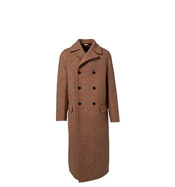 Holt Renfrew image of JIL SANDER Radetzky Wool Double-Breasted Coat. $5050. FIND IN-STORE