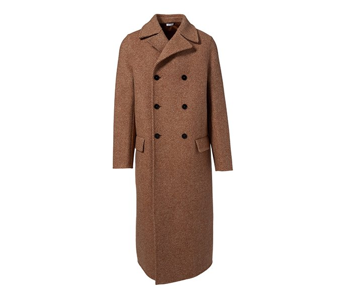 Holt Renfrew image d'un JIL SANDER manteau croisé Radetzky en laine. 5 050 $. EN MAGASIN