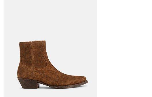 Holt Renfrew image of SAINT LAURENT. Lukas Suede Ankle Boots In Leopard Print. SHOP NOW