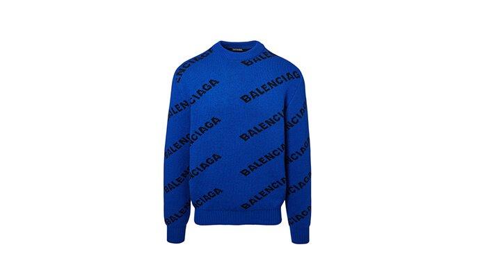 Holt Renfrew image of BALENCIAGA. Pull en laine à logo. 1 540 $.