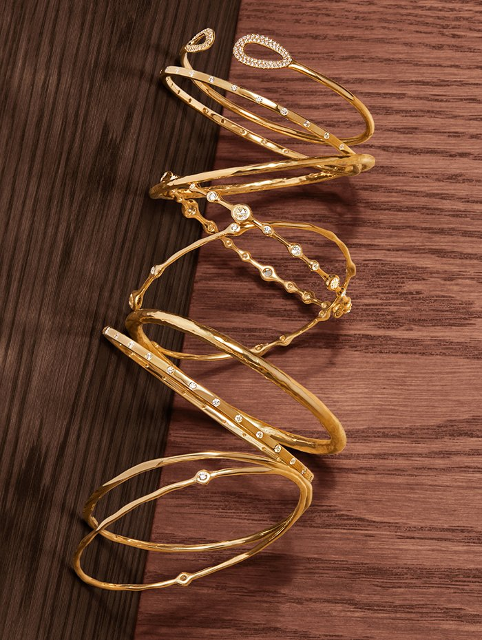 Holt Renfrew Image of IPPOLITA Cherish with diamonds. $4800. Senso with diamonds. $5205. Classico. $930. Stardust with diamonds. $9000. Stardust with diamonds. $4200. Classico. $1550. Senso with diamonds. $5205. Classico. $1075. Stardust with diamonds. $2625. All bracelets in 18K gold.