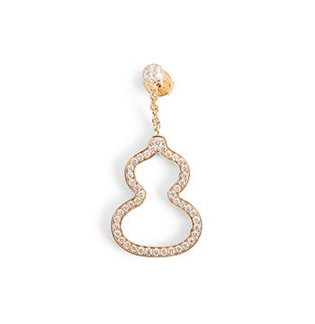 Holt Renfrew image de QEELIN Boucle d'oreille Wulu en or rose à 18 ct ornée de diamants. 6 800 $.