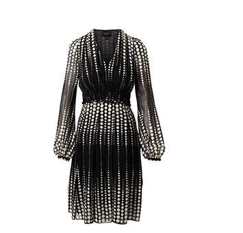 Holt Renfrew image of GIAMBATTISTA VALLI Silk V-Neck Dress In Dot Print. $3400. FIND IN-STORE