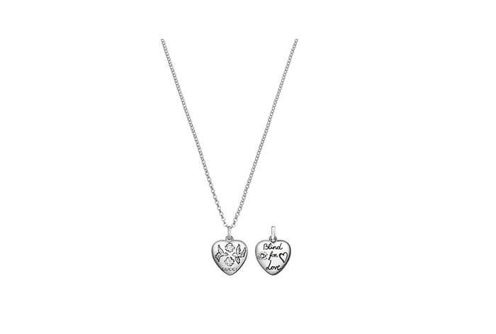 Holt Renfrew image of GUCCI Blind For Love Sterling Silver Necklace. $270. SHOP NOW
