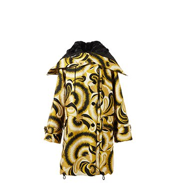 Holt Renfrew image of DRIES VAN NOTEN parka Verleri en jacquard et simili fourrure. 3 610 $.