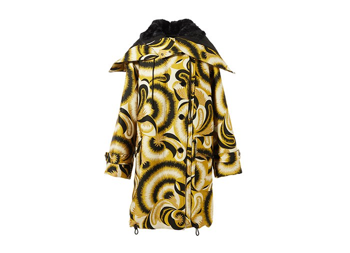 Holt Renfrew image of DRIES VAN NOTEN parka Verleri en jacquard et simili fourrure. 3610 $.