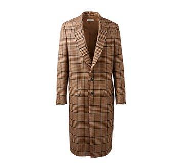 Holt Renfrew image d'un DRIES VAN NOTEN manteau Reedley en mélange de laines à motif pied-de-poule. 2 055 $. EN MAGASIN