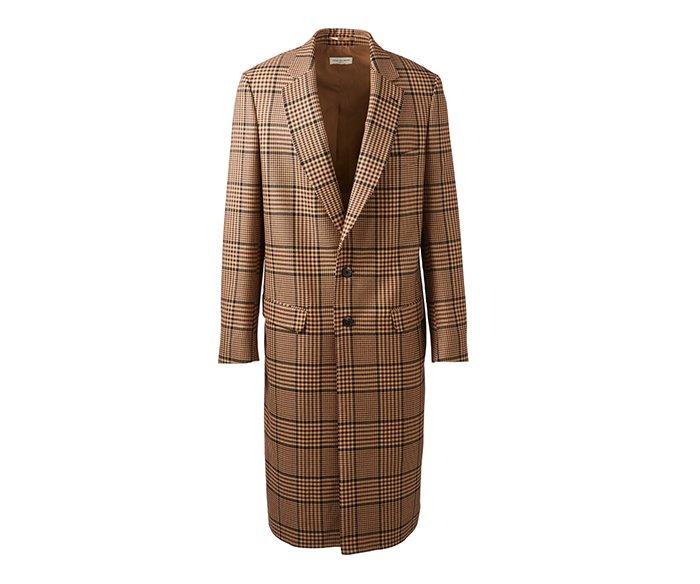 Holt Renfrew image of DRIES VAN NOTEN Reedley wool-blend coat in houndstooth check. $2055. FIND IN-STORE